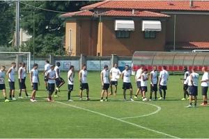 Il Frosinone Calcio al Comunale di Seriate